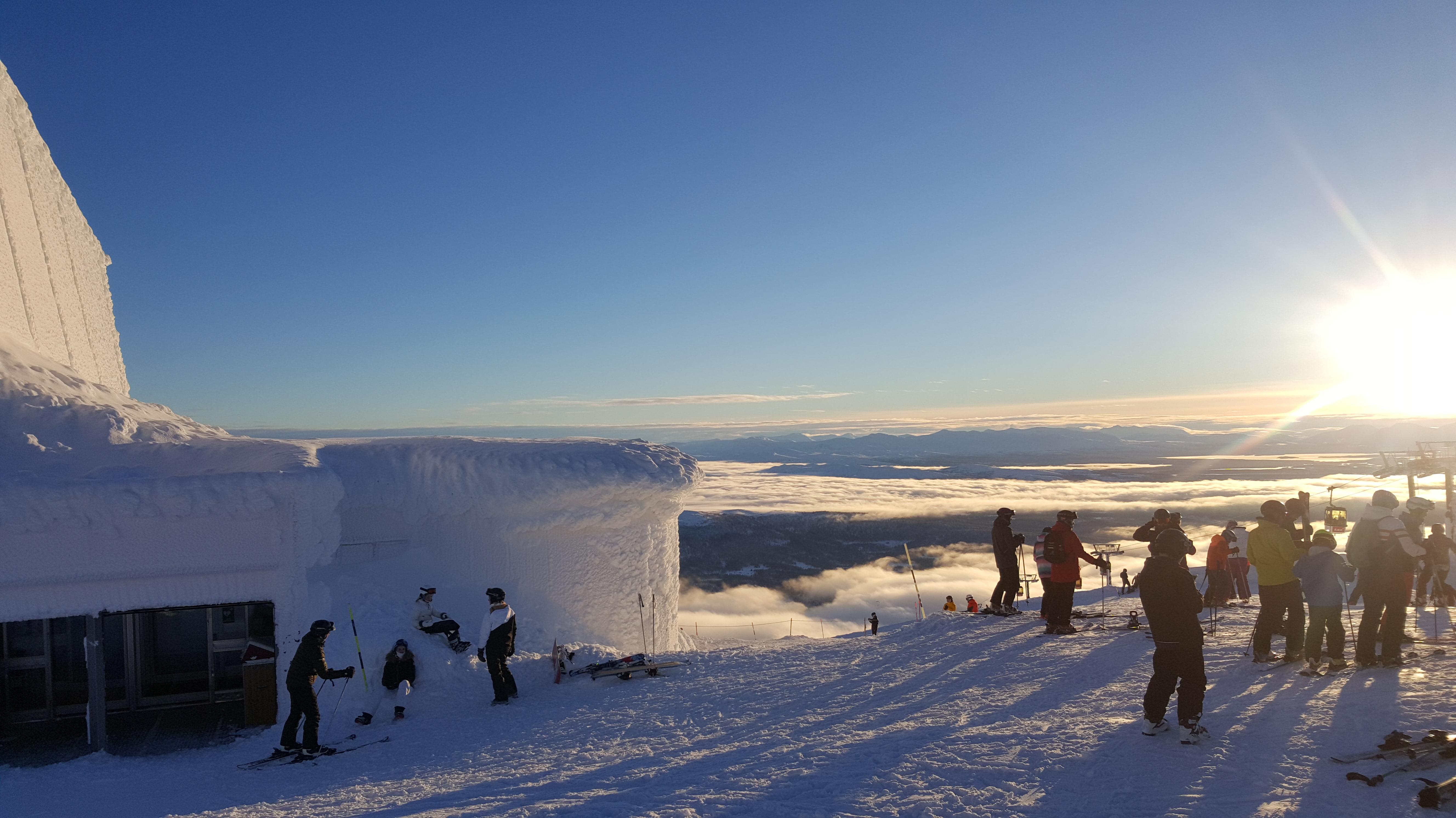 Underbar utsikt från vår backrestaurang BaseCamp Åreskutan